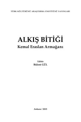 Kitabın iç kapak, sunuş, önsöz ve içindekiler bölümüne pdf olarak