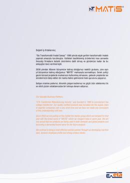 matis ürün kataloğu - Matis Transformatör