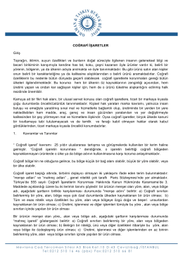 Türkiye`de Coğrafi İşaret