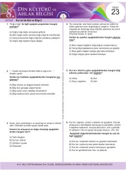 D - Ölçme, Değerlendirme ve Sınav Hizmetleri Genel Müdürlüğü