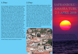 Safranbolu & West Black Sea Tour Program