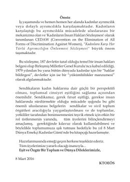 CEDAW Sözleşmesi El Kitabı