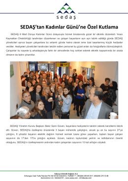sedaş`tan kadınlar günü`ne özel kutlama 2015-03-10