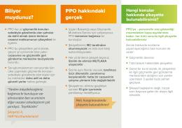 Biliyor muydunuz? PPO hakkındaki gerçek