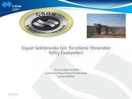Nejat Güneri , Çalışma ve Sosyal Güvenlik Bakanlığı İş Teftiş