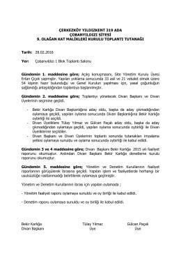 2016genel_kurul_tutanak - Yıldızkent 319 Ada Çobanyıldızı Sitesi