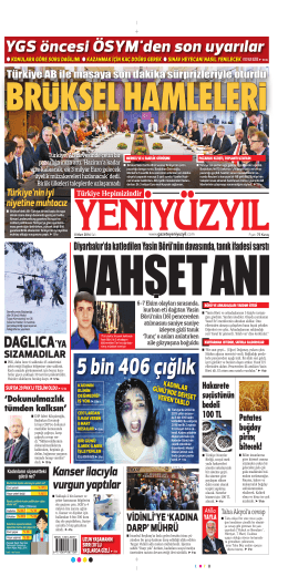 5 bin 406 çığlık - Yeni Yüzyıl Gazetesi