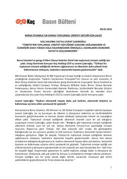 08.03.2016 borsa istanbul`un gongu toplumsal