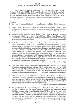 10 Mart 2016 Muğla Büyükşehir Belediyesi Meclis Toplantısı Halka