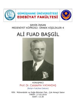 ali fuad başgil - Edebiyat Fakültesi
