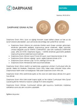 darphane gram altını - Darphane ve Damga Matbaası Genel