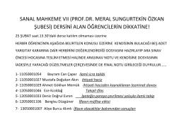 sanal mahkeme vıı (prof.dr. meral sungurtekin özkan şubesi)