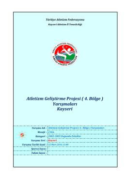 2002-2003 Doğumlu Erkekler - Türkiye Atletizm Federasyonu