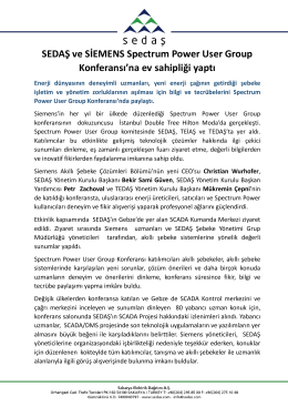 sedaş ve sıemens spectrum power user group konferans`ına ev
