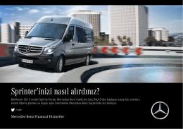 Sprinter`inizi nasıl alırdınız? - Mercedes
