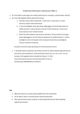 Endüstriyel Otomasyon Laboratuvarı Ödev-2
