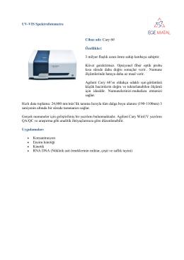 UV-VIS Spektrofotometre - ege
