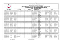 Teknisyen ve Memur Aylık Nöbet Listeleri