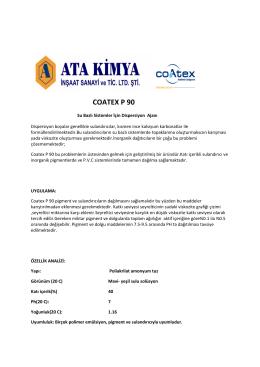 coatex p 90 - Ata Kimya