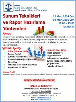 SunumTeknveRaporl(12-19 Mart 2016)