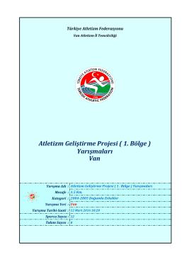Van - Türkiye Atletizm Federasyonu