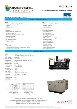 UND - R 110 - İzmit Güç Sistemleri