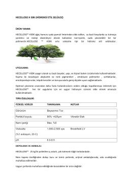 hecellose h 30k (hidroksi etil selüloz)
