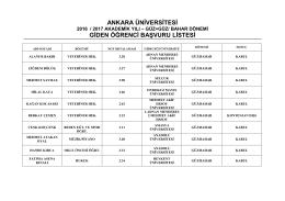 Ankara Üniversitesi Farabi Kurum Koordinatörlüğü