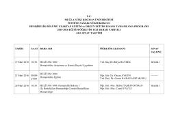 2015-20116 lisans tamamlama bahar yarıyılı vize sınavları