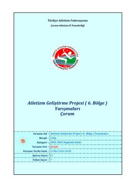 Çorum - Türkiye Atletizm Federasyonu