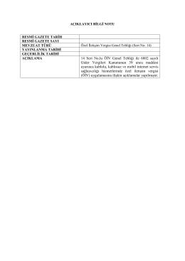 14 Seri No.lu ÖİV Genel Tebliği ile 6802 sayılı Gider Vergileri