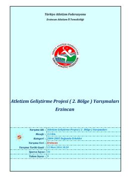 2004-2005 Doğumlu Erkekler - Türkiye Atletizm Federasyonu
