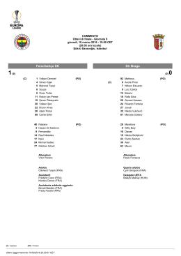 Fenerbahçe SK SC Braga