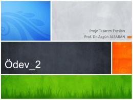 Ödev 2 - Prof.Dr Akgün Alsaran