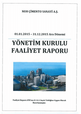 31.12.2015 Faaliyet Raporları