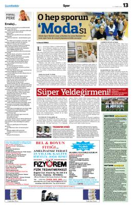 O hep sporun - Gazete Kadıköy