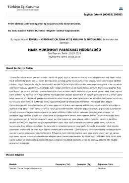 mkek mühimmat fabrikası müdürlüğü