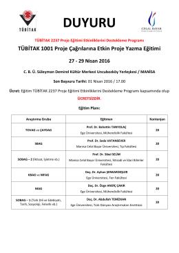 duyuru - Celal Bayar Üniversitesi