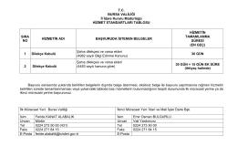 T.C. BURSA VALİLİĞİ İl İdare Kurulu Müdürlüğü HİZMET