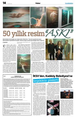 teşekkür plaketi - Gazete Kadıköy