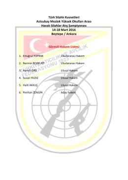 Türk Silahlı Kuvvetleri Astsubay Meslek Yüksek Okulları Arası Havalı