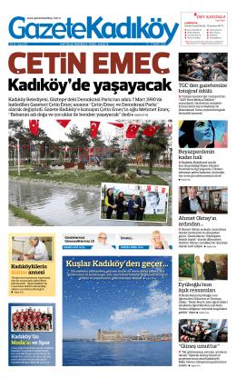 Kuşlar Kadıköy`den geçer