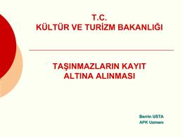 sunumu - Konya İl Kültür ve Turizm Müdürlüğü